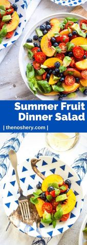 Summer Fruit dinner salad   -Salad