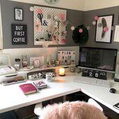 42 melhores idéias para decorar seu escritório no trabalho   – Office & Workspace