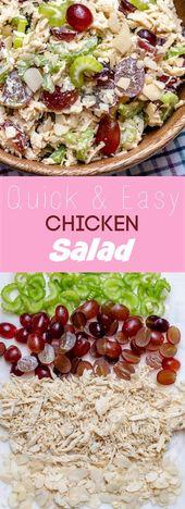 Schneller & EINFACHER Hühnersalat   – Healthy – #amp #einfacher #Healthy #Hühn… – salat