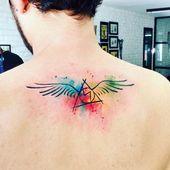 56 Ideen für Tattoo Harry Potter Heiligtümer des Todes Aquarell
