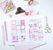 Mini Happy Planner – Perky Pink Planner Stickers – Vintage Glam Studio