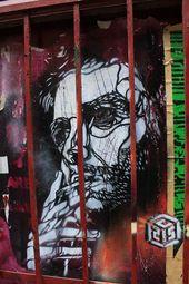 Graffiti Stencil Art by Street Artist C215   – Graffiti and Street Art – #art #A…   – chalk art