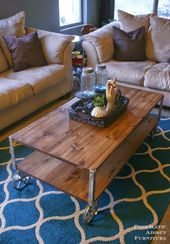 EASY Industrial Coffee Table (No Welding!)