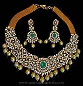 Diamond Necklae Set from Karni Jewellers ~ South India Jewels