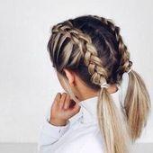 Schulterlange Haare flechten: 15+ kinderleichte Anleitungen für jeden Tag  #anl… – Frisuren Ideen