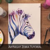 Video: Zebra malen mit Acryl