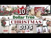 10 Dollar Tree CHRISTMAS DIYS | DIY Dollar Tree Fa…