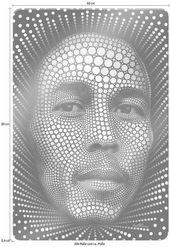 Glasbild Ben Heine »Circlism: Bob Marley«, 60 / 0,4 / 80 cm
