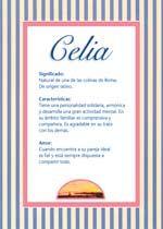 Nombre Celia Significados De Los Nombres Nombres De Mujer Españoles Imágenes De Nombres