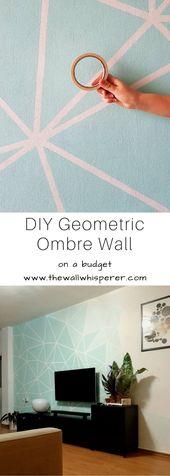 TV Wand – DIY Faux Tapete Wohnkultur Akzent Wandprojekt – auf ein Budget