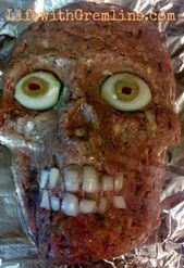 Ideas de fiesta de Halloween: receta de cabeza de pastel de carne   – Halowin