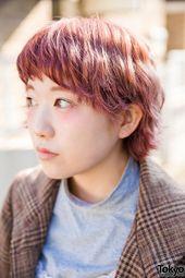 Short Pink Harajuku Hairstyle