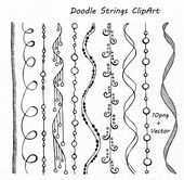 Doodle Strings Clipart, String borders clip artwork, Digital borders, PNG, EPS, AI (vector) recordsdata, Private and Industrial use clipart