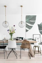 Dining area makeover with lighting and chairs