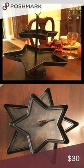 Holiday Serving Tray Nwt Holiday Serving Tray Star Shape Holiday