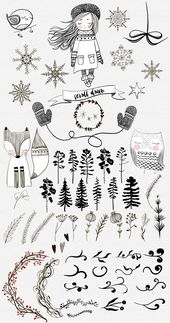 Winter collection. Big holliday set by Natdzho on Creative Market
