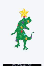 Christmas Dinosaur Tree SVG,Christmas Dinosaur Svg, Santa T-Rex Svg, Holiday Dino boy Christmas svg