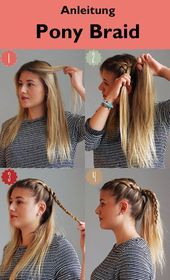 Anweisungen #Pony #Braid … # #Instruction # #Braid # #Pony