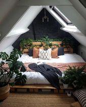 Böhmische Art-Ideen für Schlafzimmer-Dekor-Design