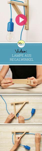 Verwandle Einen Regalwinkel In Eine Lampe Ikea Ikea Lampen Lampe