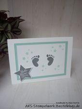 Baby Cards Hallo kleiner Stern! | AKS – Stempelwerk First Steps, Willkommensgruß zur Geb...