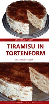 Tiramisu in Tortenform 😍 😍 😍