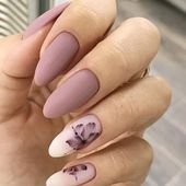 36 Perfect and Outstanding Nail Designs for Winter 2018; dark color nails; Gel n