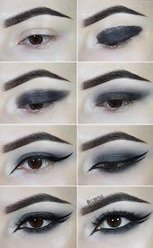Goth Smokey Eye Tutorial   Check this gothic smokey eye tutorial to get the powe…