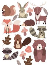 Woodland Forest Animals Nursery Wall Stickers Woodland Forest Animals Nursery Wall Stickers These are made by us in the UK using the highest quality v…