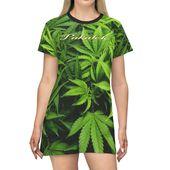 T-shirt Dress AOP Big Leaves Pakalolo Hawaii – T-Shirt, Lowe Graphics