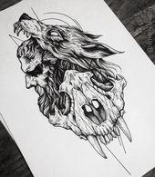 """Dmitriy Tkach auf Instagram: """"Wie ich diese Nacht verbracht habe) ➕Verfügbar für Tätowierungen! ➕ # tattoo2me #tattoos #art_motive #tattooing #theartisthemotive # tattooart… """""""