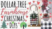DOLLAR TREE DIY🎄FARMHOUSE CHRISTMAS DECOR 2019…