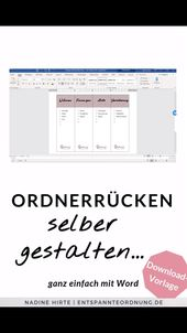 Ordnerrücken Word [kostenlose Vorlage zum Download]