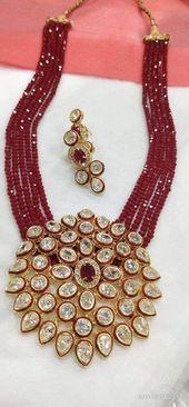 Royal Kundan Necklace with Moti Strands