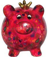 Pomme Pidou Spardose SCHWEIN PEGGY pink mit Herzmuster  Pomme Pidou Spardose SCH… – SELBERMACHEN