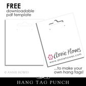 Hang Tag Template Earring Cards Template Printable Tags Template Templates Printable Free