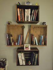 Einfache DIY Bücherregale   – Home decor