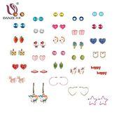Danze 30 paires / lot joli coeur boucles d'oreilles animaux ensemble enfants femmes Licor…
