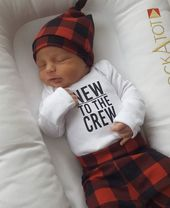 Buffalo Plaid Baby Outfit, Baby Shower Gifts, Baby Clothes