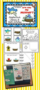 """Are You My Mother""…Adapted Book, Emergent Reader, Literacy & Math Activities – Reading"