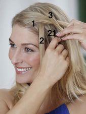 Wasserfallzopf: Anleitung für die romantische Flechtfrisur – Flechtfrisuren kurzes Haar