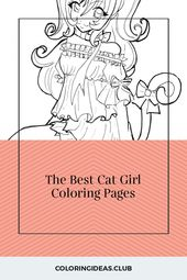 The Best Cat Girl Coloring Pages
