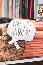 Was ist mit Digga los ?! Stilvolles Wurfskissen   – Boutique @moebelschaumann