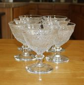Scalloped Edges Tableware Turquoise Davidson Glass Dessert Dishes Fruit and Cream Serving Dishes Quality Vintage. Strawberries and Cream
