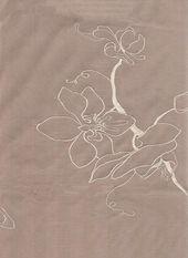 Orchid Silk Curtain Fabric Taupe silk curtain fabr…