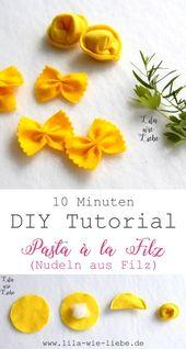 Nudeln für den Kaufladen: 10-Minuten DIY – Lila wie Liebe