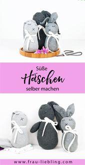Eine süße Geschenkidee: DIY Socken Hasen ganz ei…