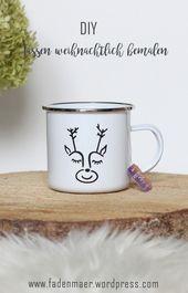 Photo of Lack Emaille Tassen – Schnelles DIY Weihnachtsgeschenk