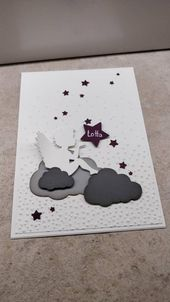 Star child mourning card child baby-name on small star-star child-girl