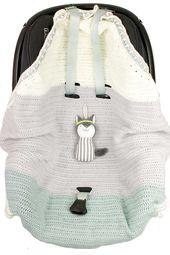 Baby Carrier Häkelanleitung für eine Babydecke für die Babyschale - mit super praktuschen ...